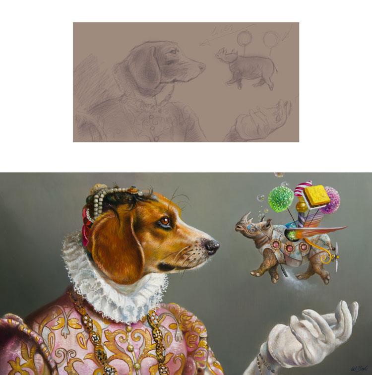 Verwonderlijk Leonardo & Rhino | Van tekening tot schilderij NM-89